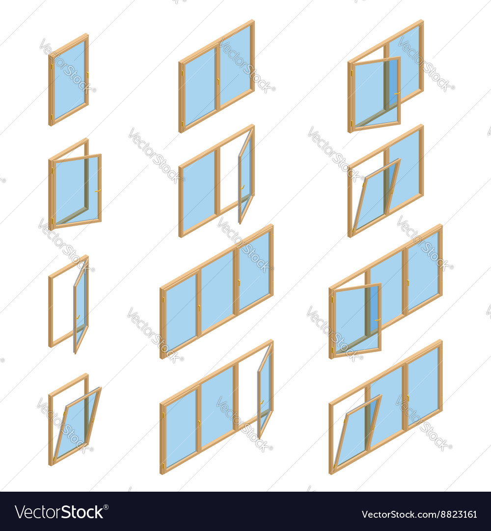 Collection of various windows types For