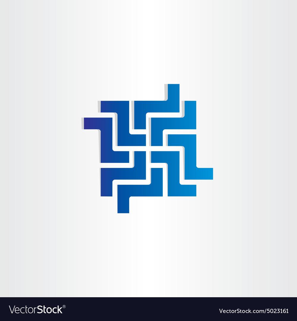 Digital network business web icon