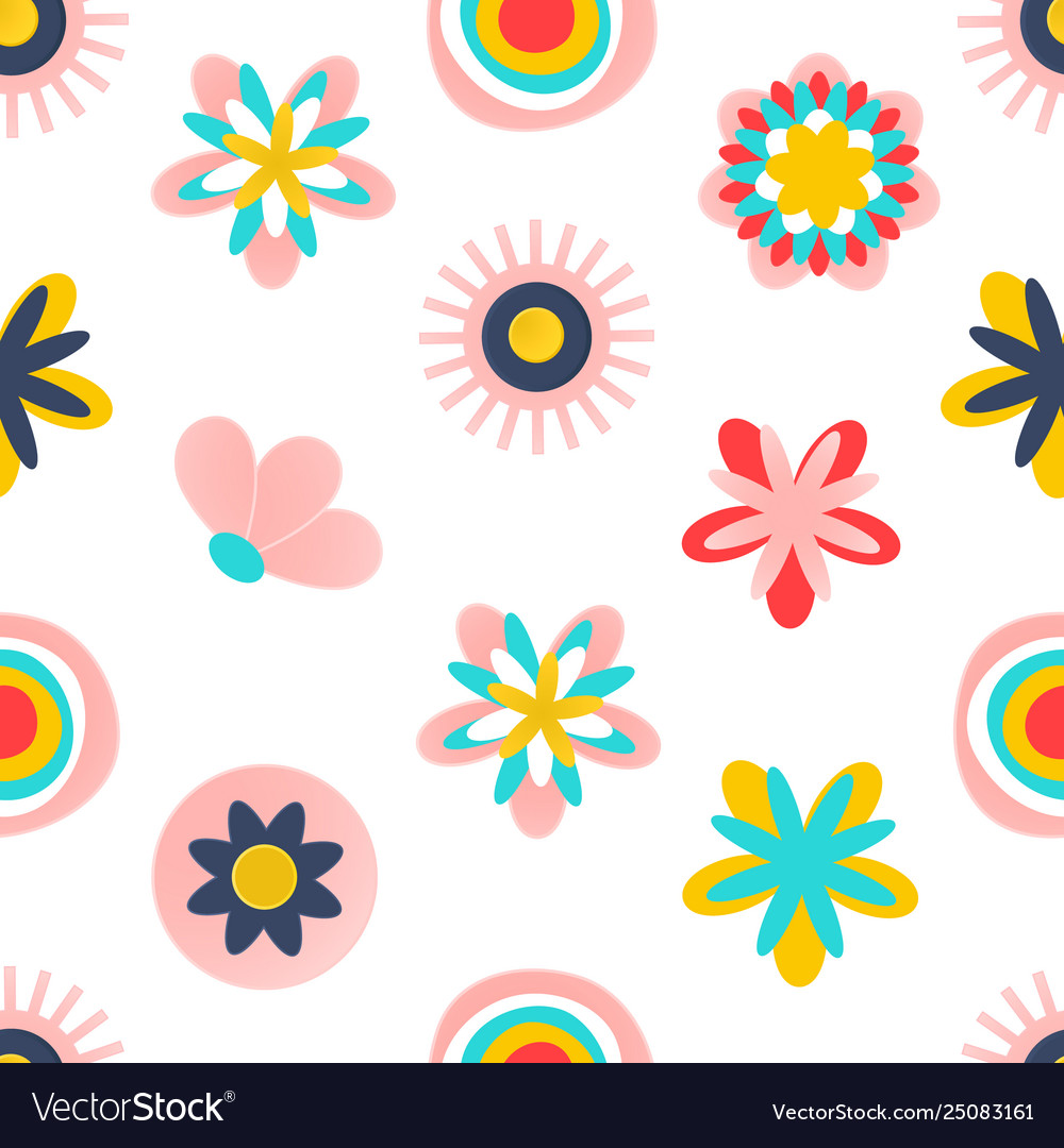 Floral seamless patternmodern abstract design
