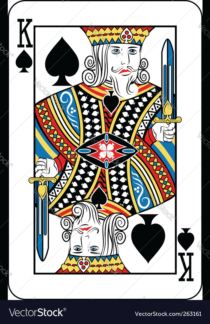 King Of Spades Royalty Free Vector Image Vectorstock