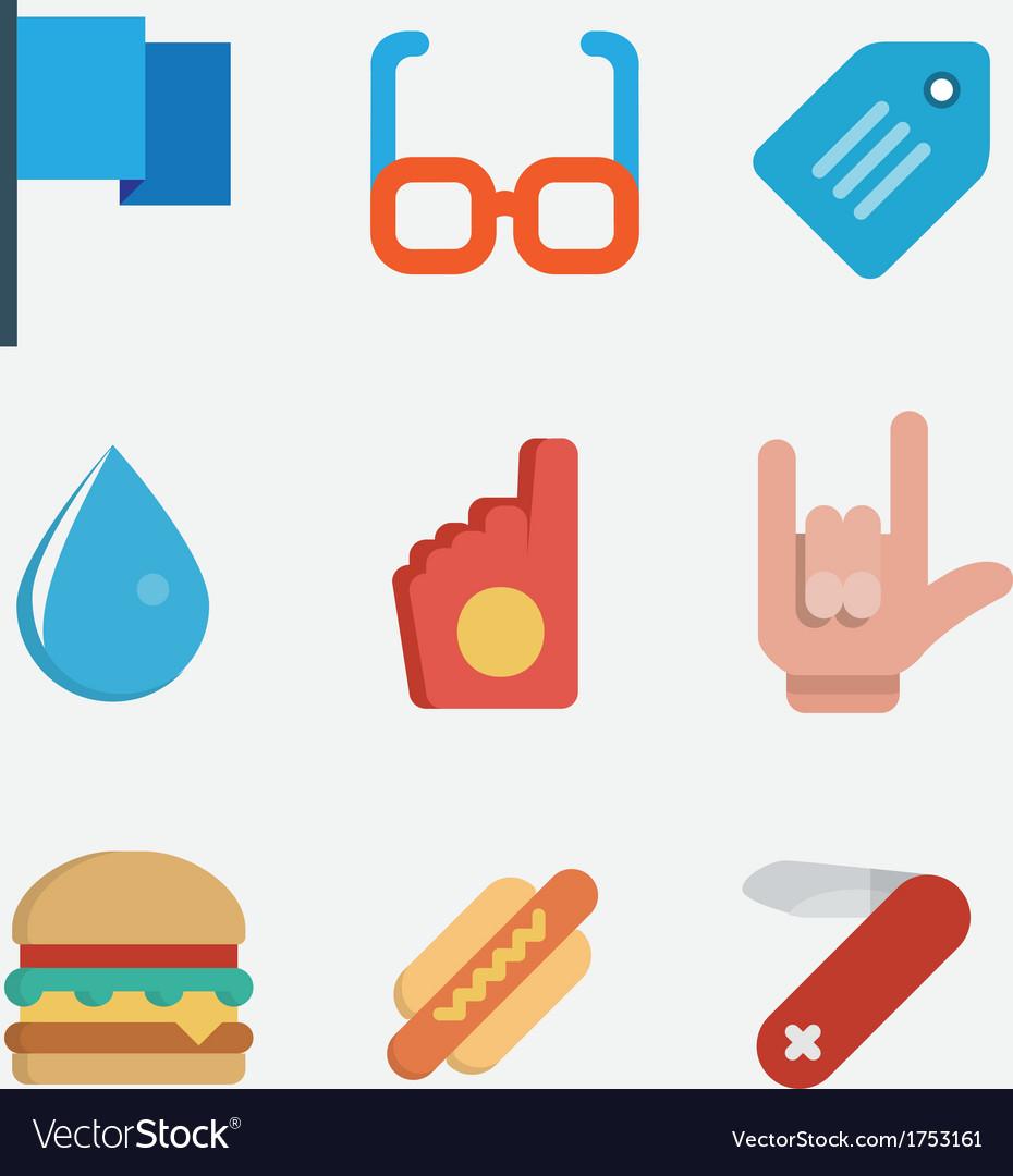 Set of flat style icons