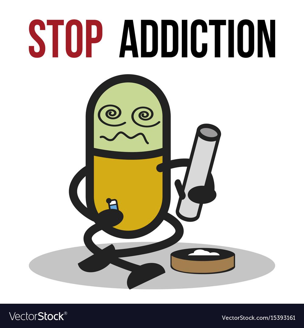 Stop addiction marijuana conceptual