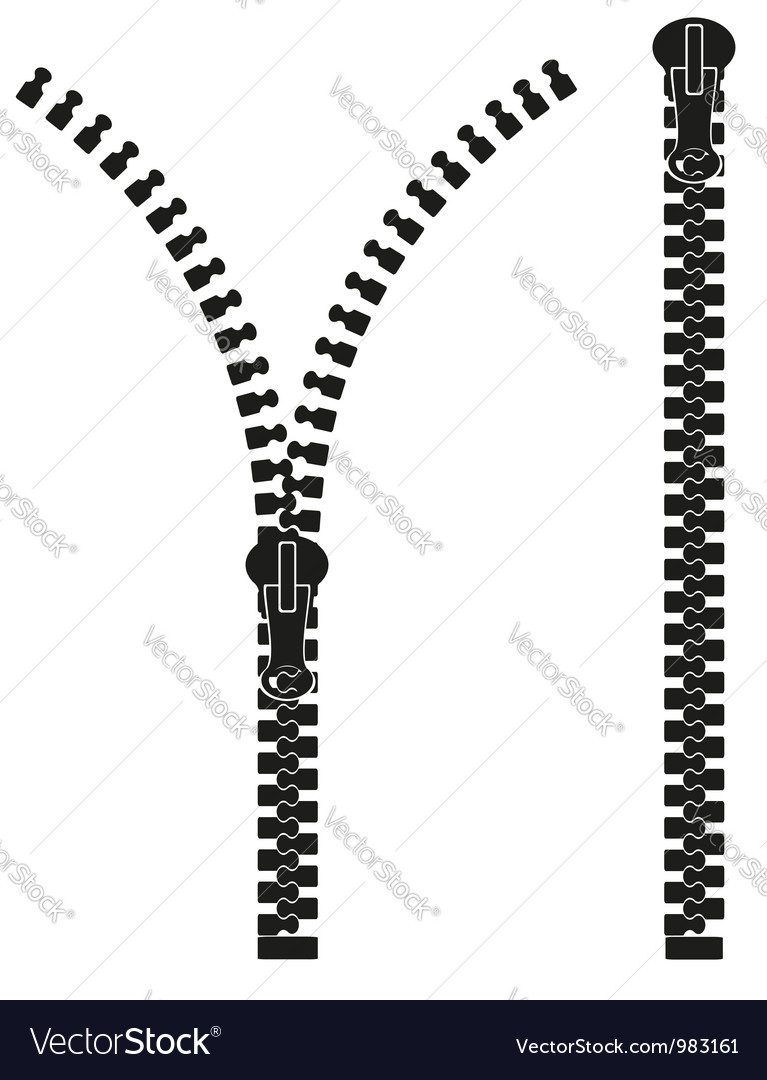zipper 04 royalty free vector image vectorstock rh vectorstock com zipper vector brush illustrator zipper vector brush illustrator