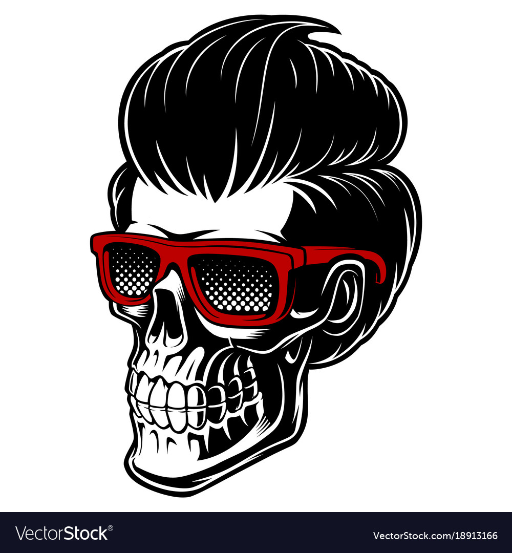 Barber skull with fashion hair