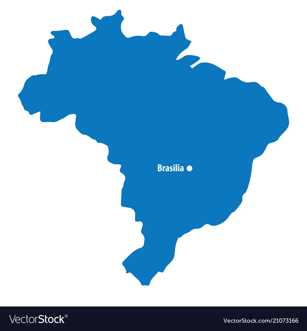 Capital Of Brazil Map Map, Federal & Brasil Vector Images (37)