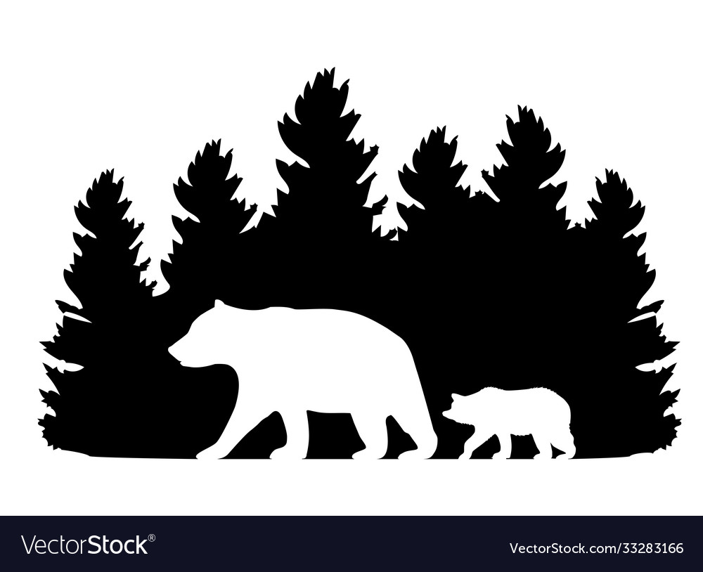 Forest with bears