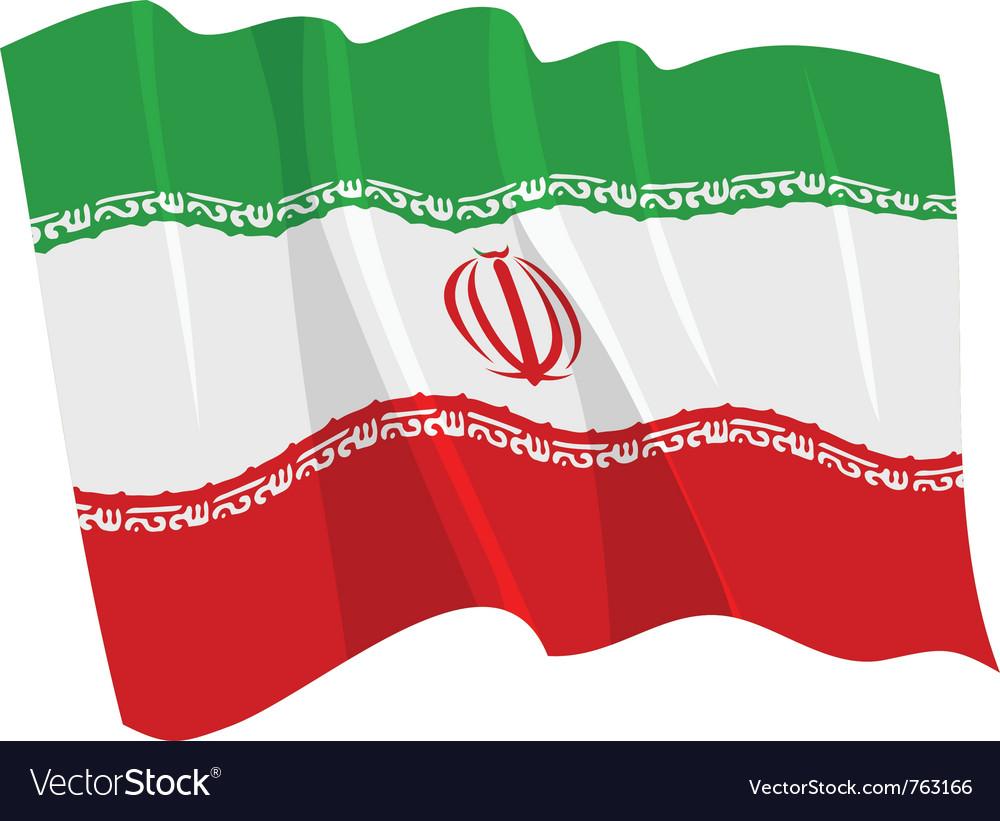 Political waving flag of iran
