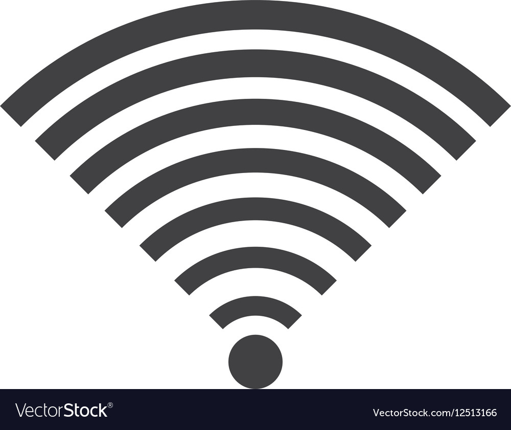 Wifi icon in flat style
