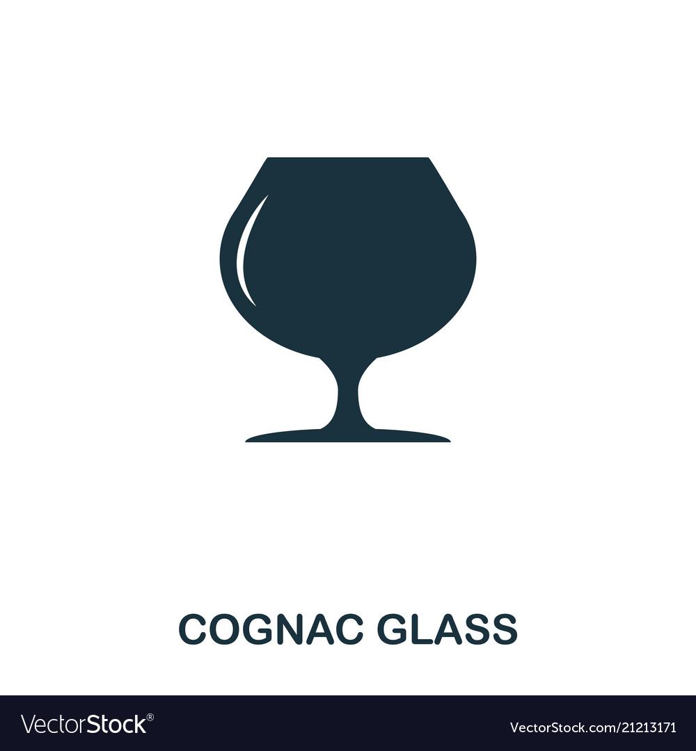 Cognac glass icon line style icon design ui