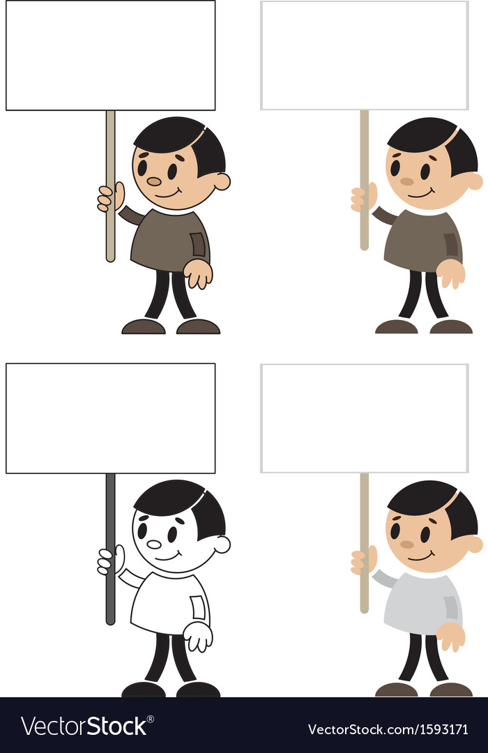 Men with blank sign vector image