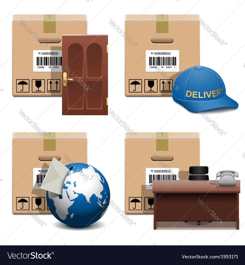 Shipment Icons Set 28