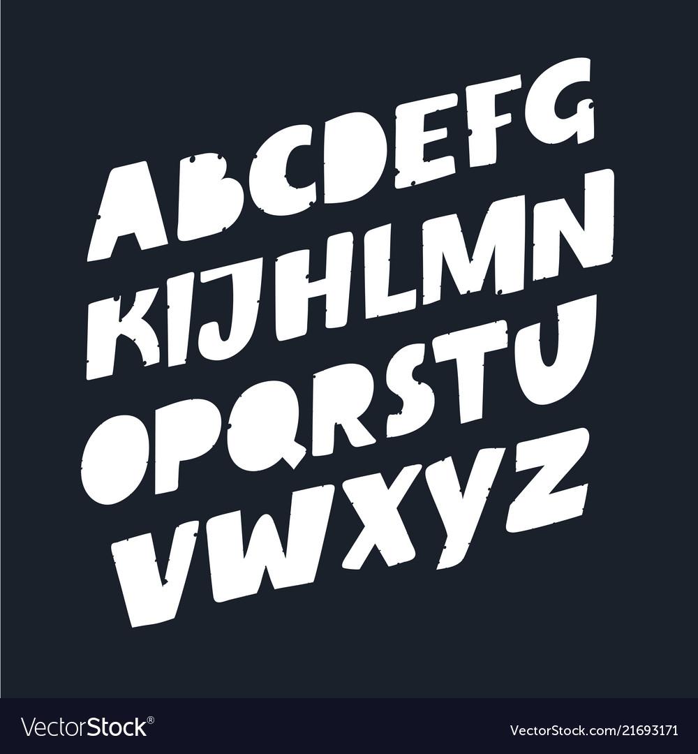 Stylized font and alphabet