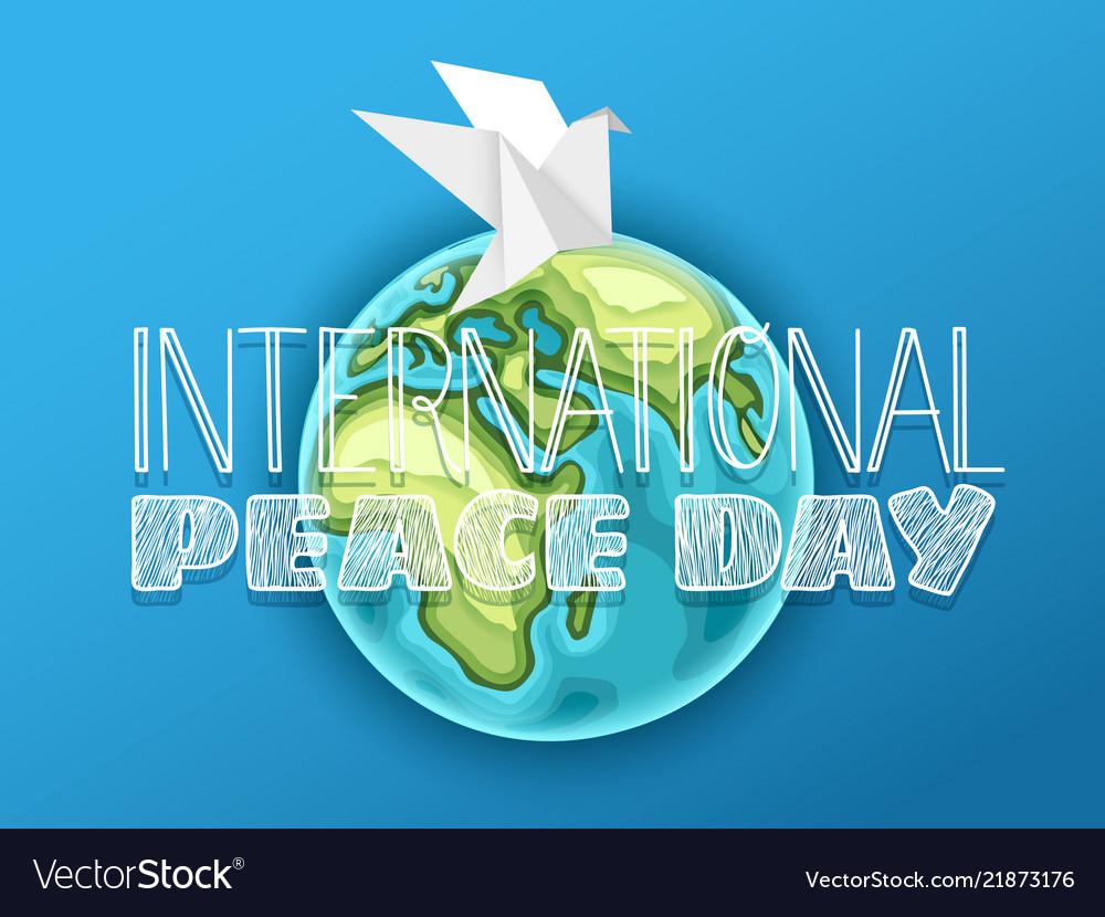 Happy international peace day card