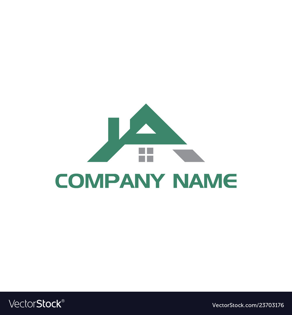 Initial letter a realty logo design