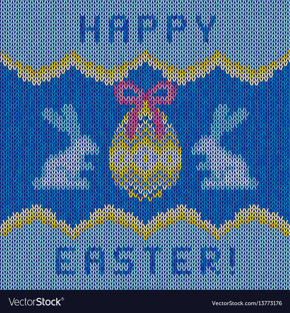 Knitted happy easter background