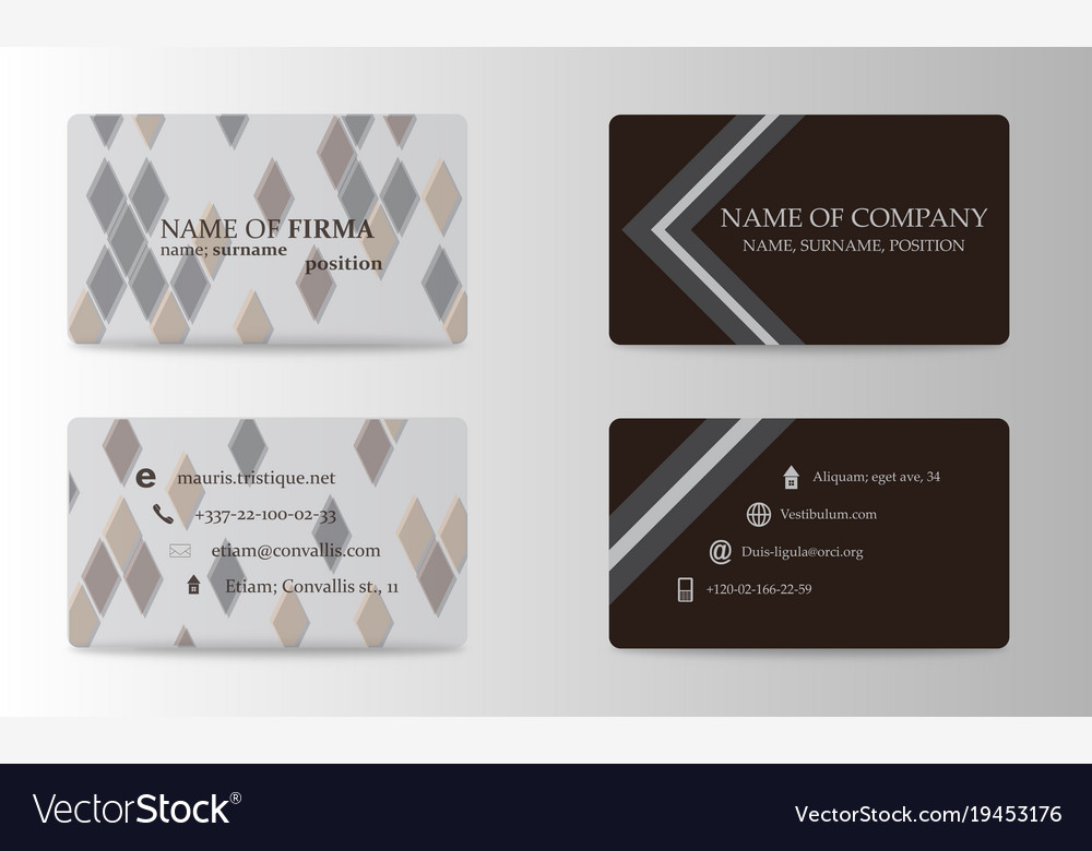 Modern Business Card Template Royalty Free Vector Image