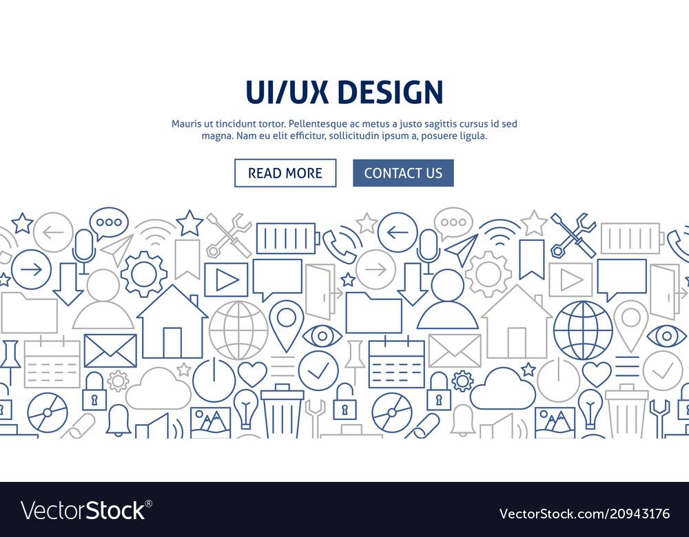 Ui ux banner design