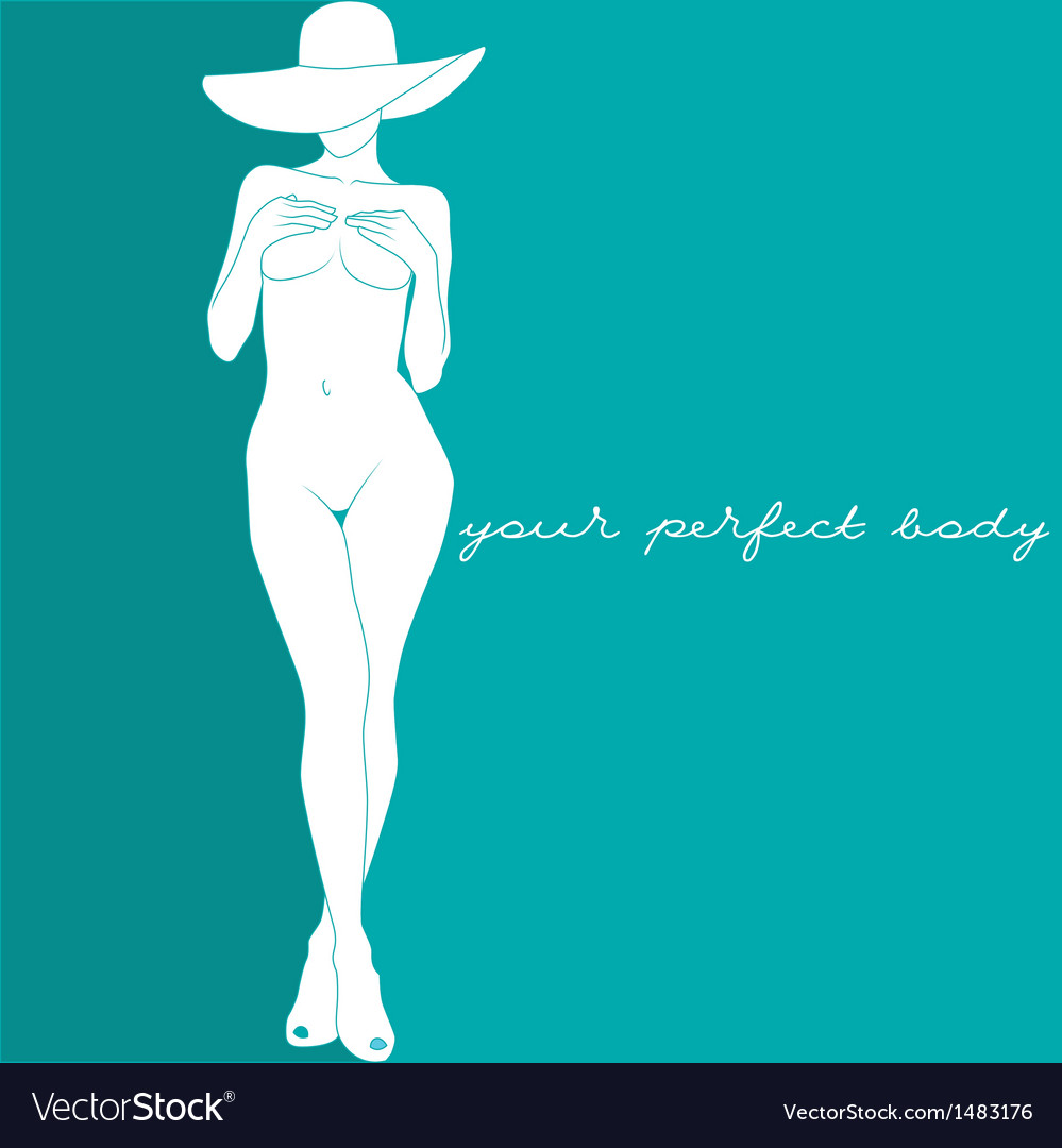 Your perfect body vector image