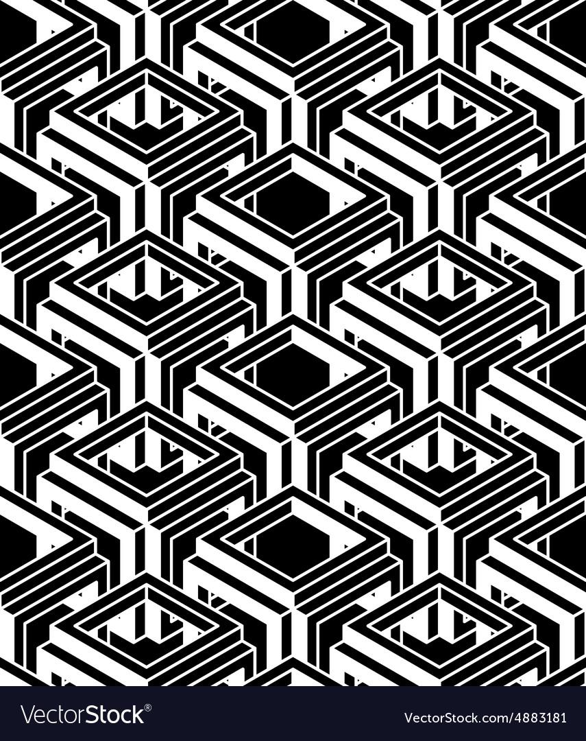 Contrast black and white symmetric seamless