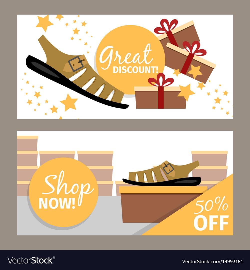 Men summer shoe store flyer