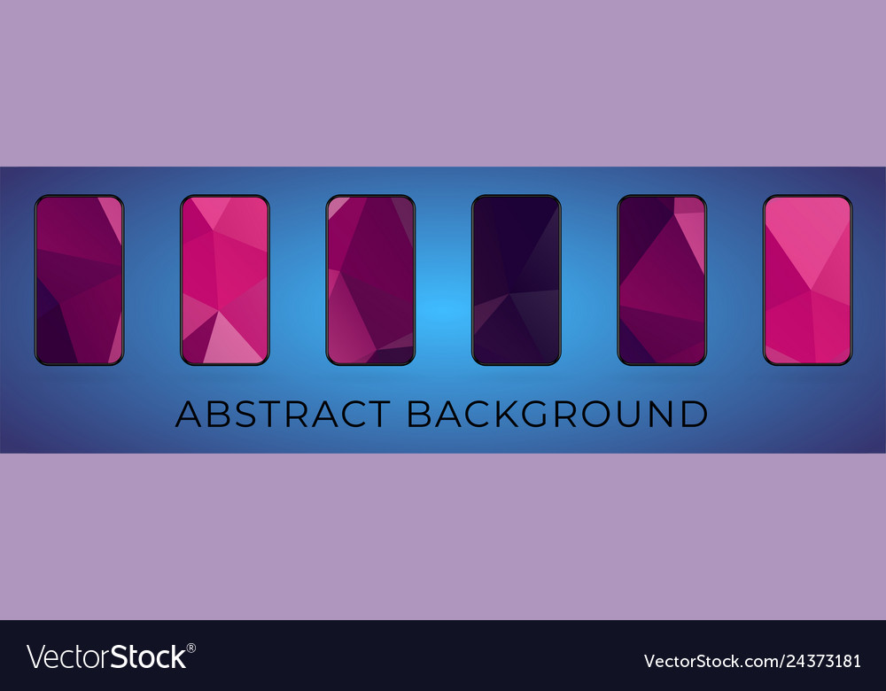 Mobile abstract triangular background set