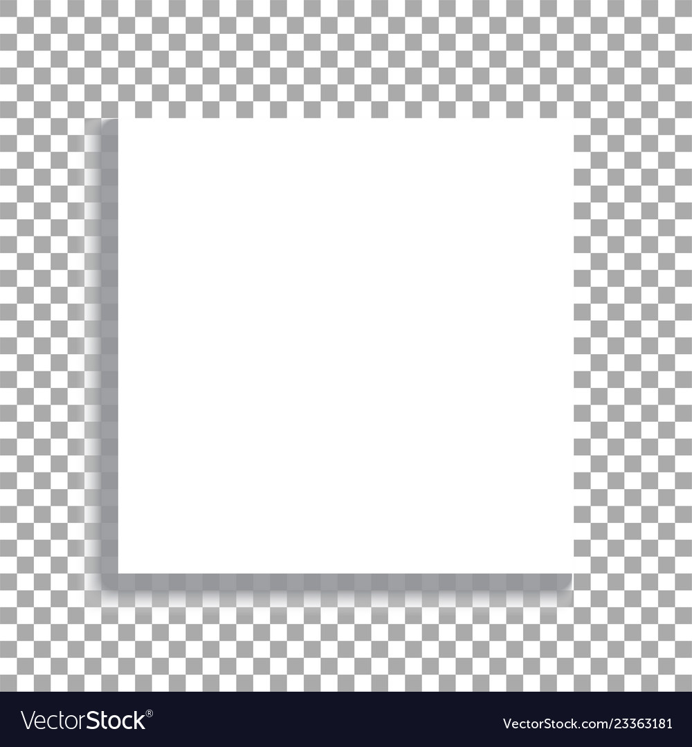 Realistic square white sheet with shadows