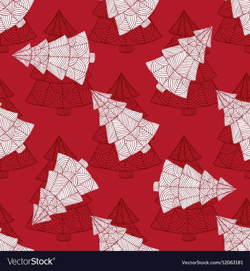 Seamless pattern with the image of a Christmas