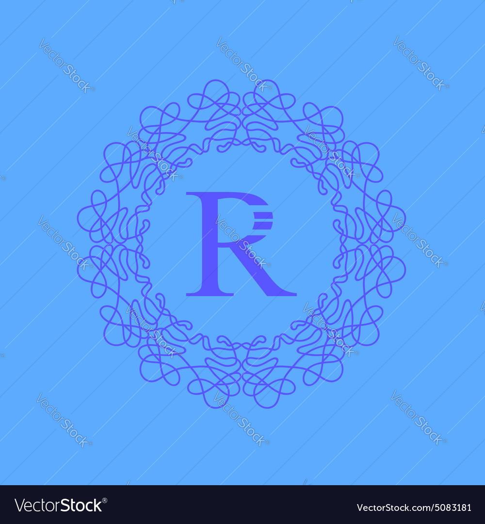 Simple Monogram R Design
