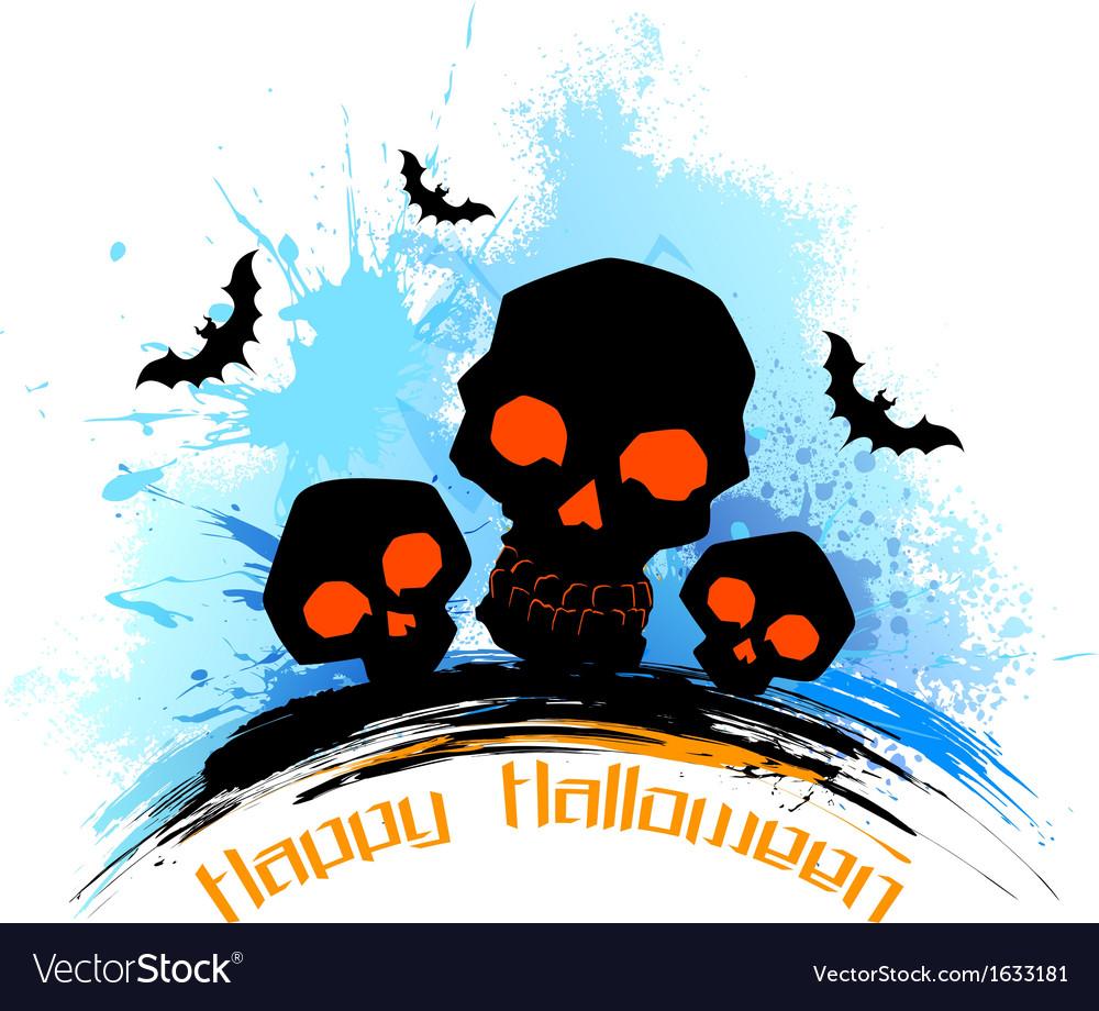 Skull in grungy Halloween Background
