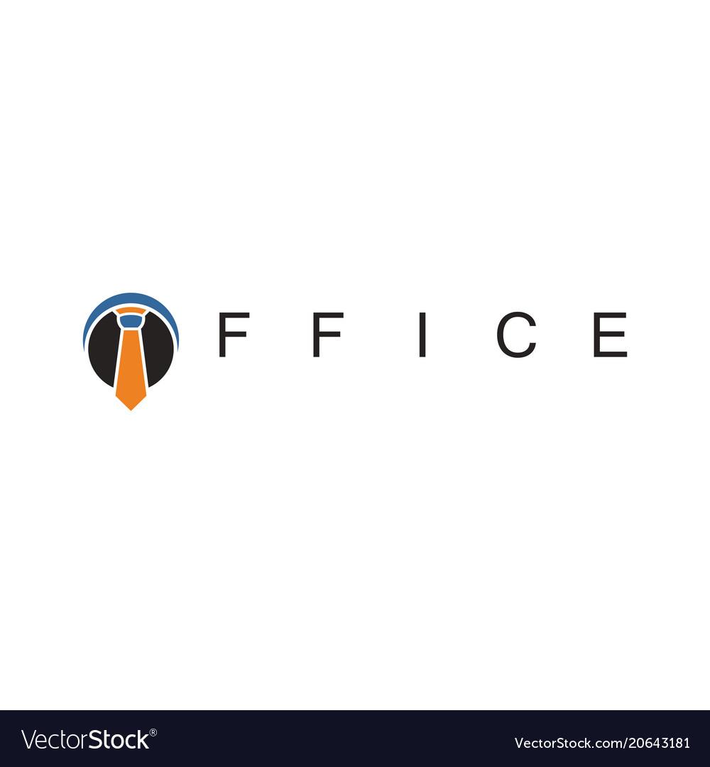 Tie office business logo
