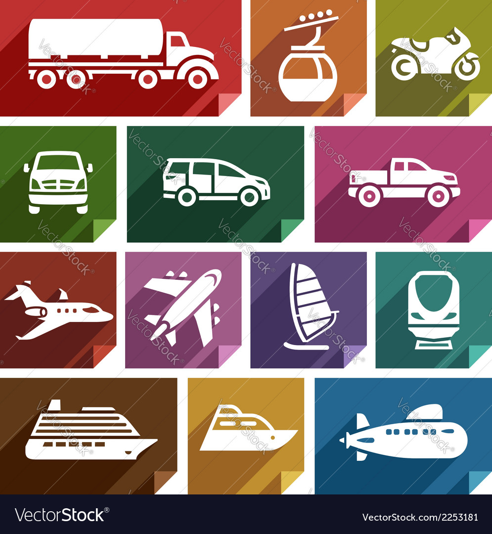 Transport flat icon-07 vector image