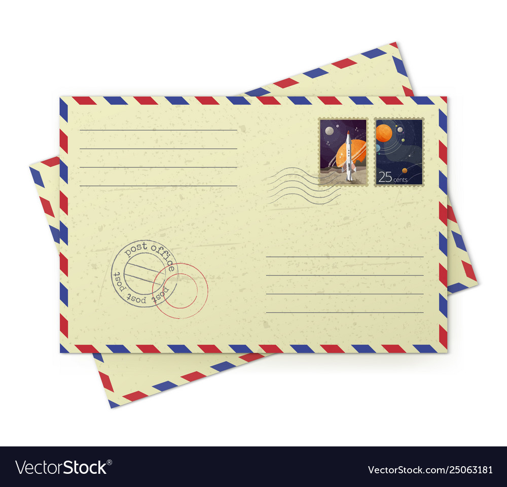 Vintage airmail envelopes