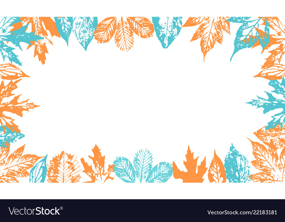 Vintage background with autumn leaves for design