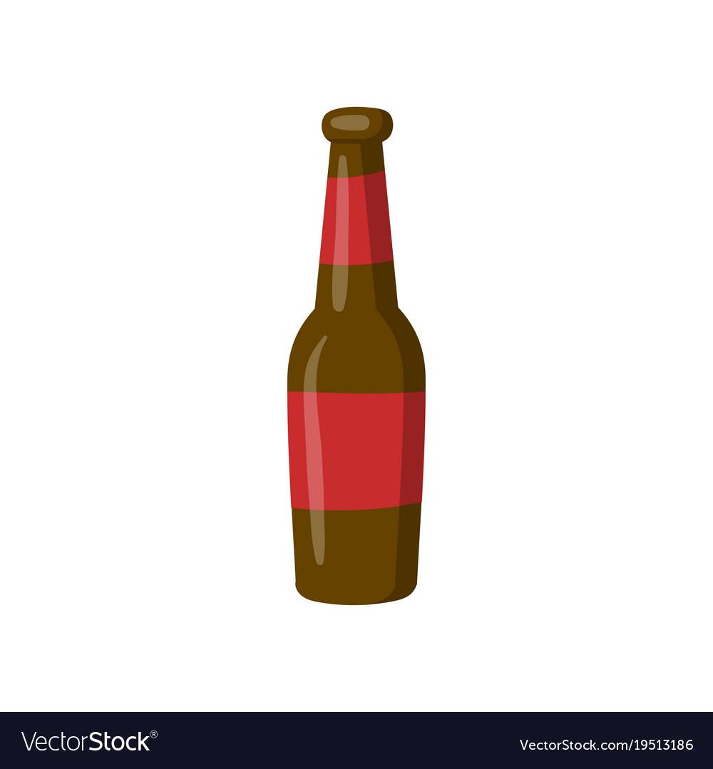 bottle of beer cartoon royalty free vector image rh vectorstock com cartoon beer bottle photo cartoon beer bottle vector