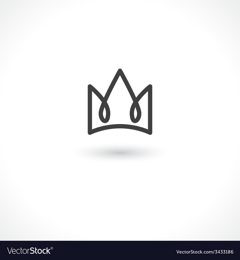 Crown king vector image