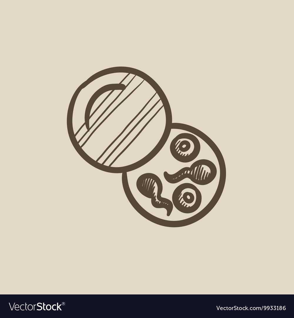 Donor sperm sketch icon