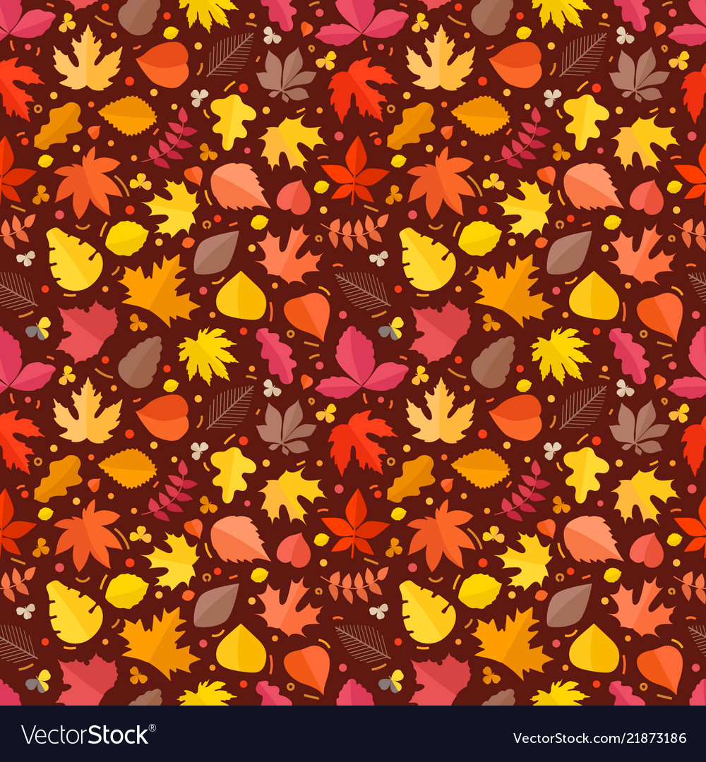 Fall leaves seamless background leaves
