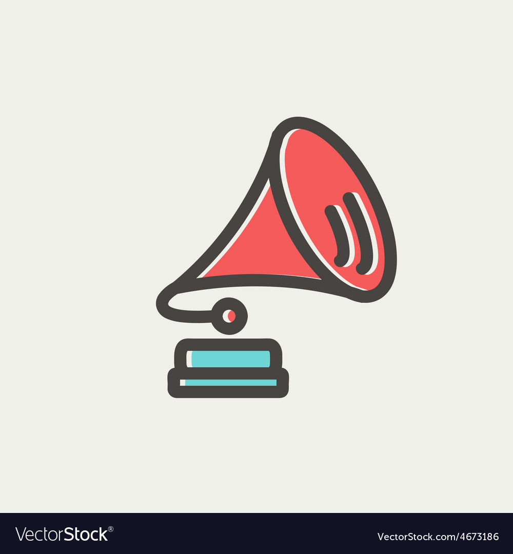 gramophone thin line icon royalty free vector image gramophone thin line icon royalty free vector image