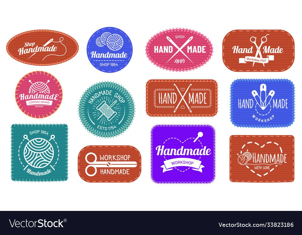 Handmade badges logo graphic logotype tag label