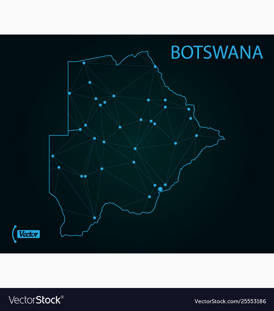 Picture of: Map Botswana World Map Royalty Free Vector Image