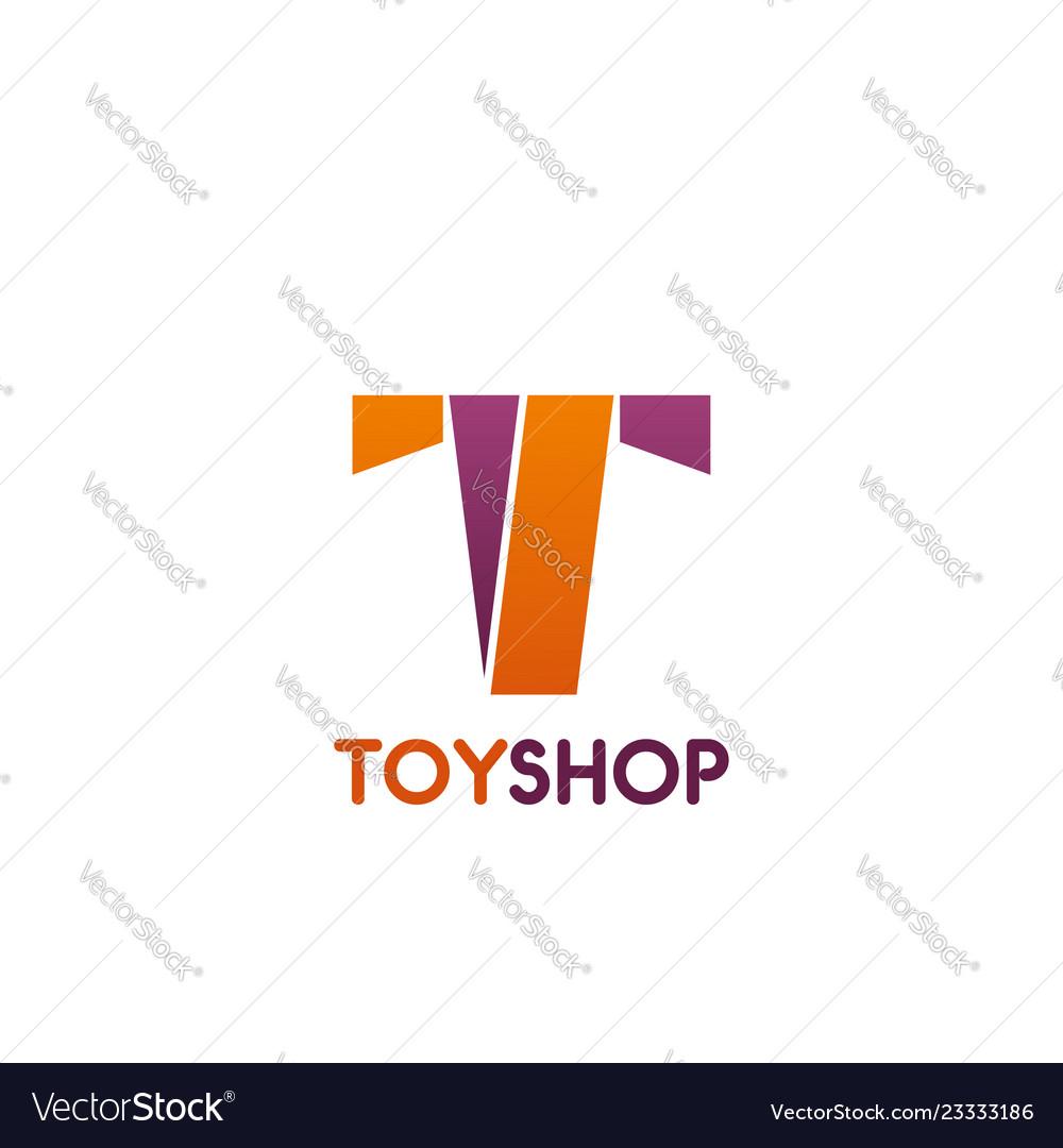 Toy shop letter t icon