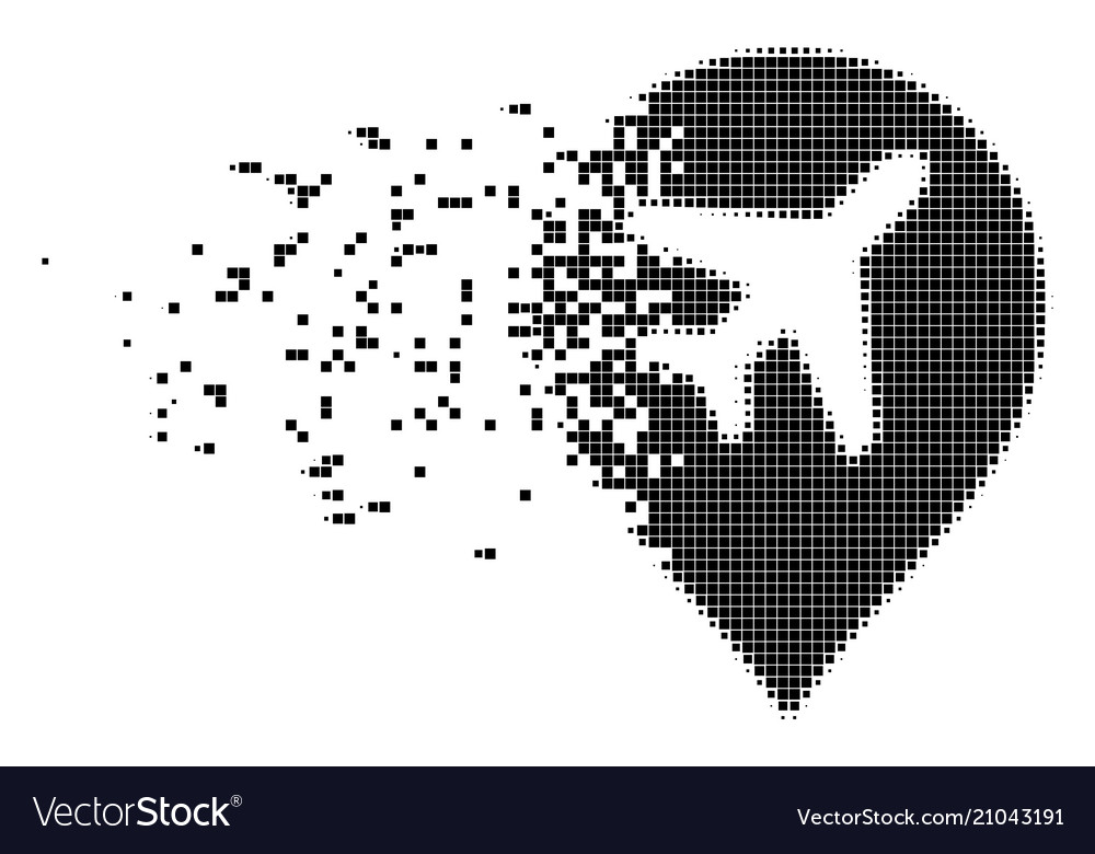 airport marker erosion pixel icon royalty free vector image