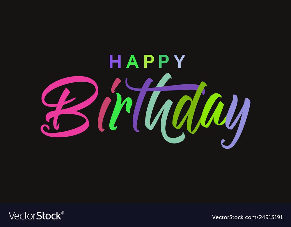 Happy Birthday Card Banner Beautiful Greeting
