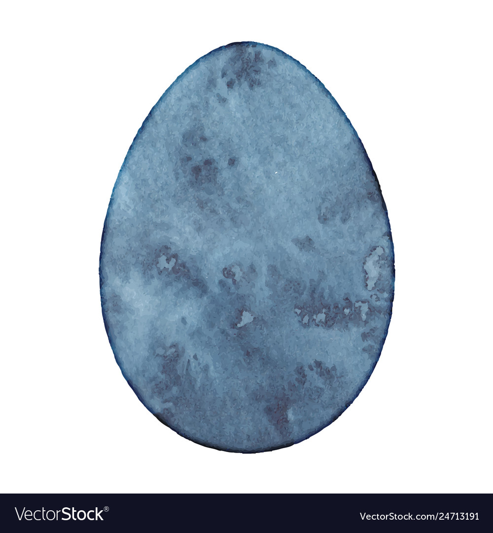 Isolated watercolor egg