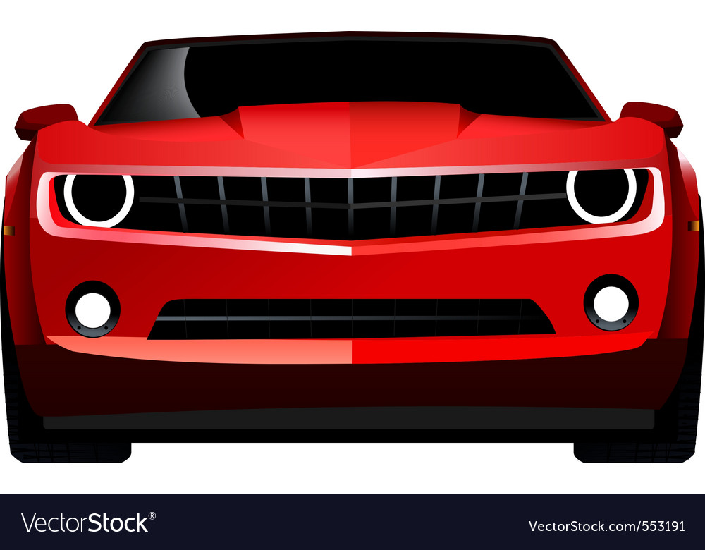 Muscle car front vector image