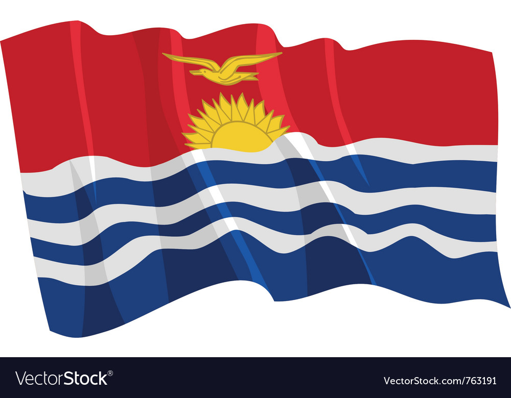 Political waving flag of kiribati