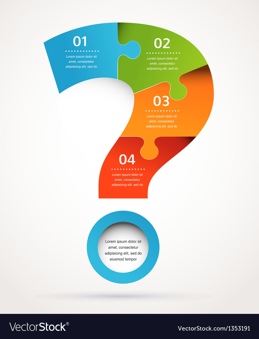 Question mark abstract design and infographics