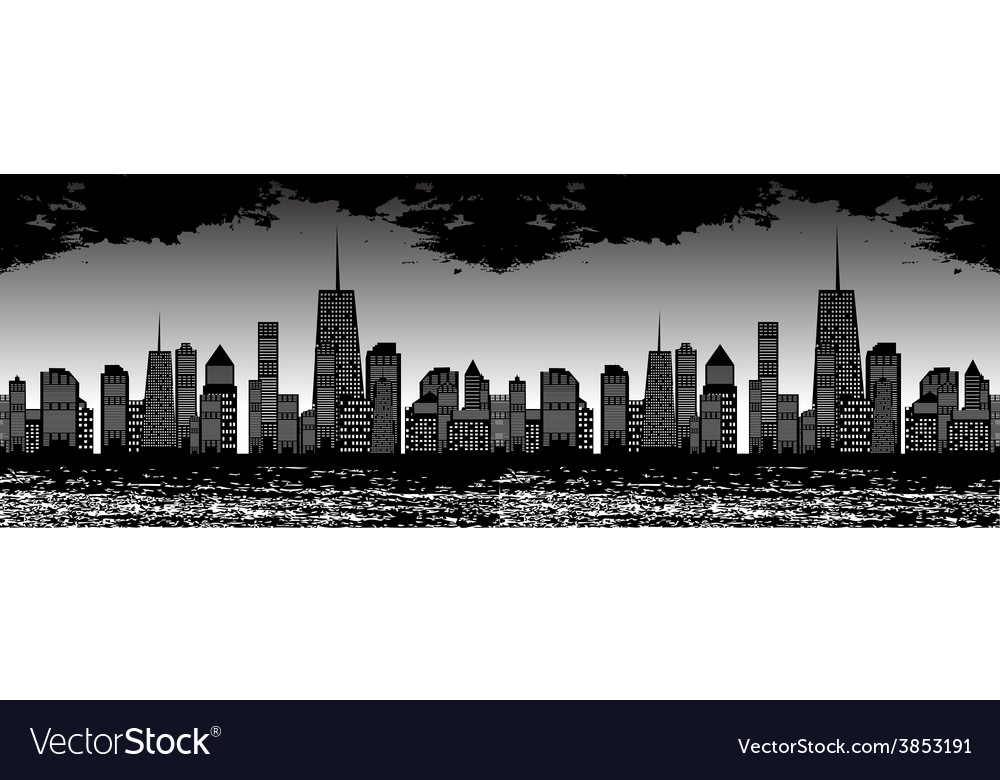 Seamless Pattern of Cities vector image