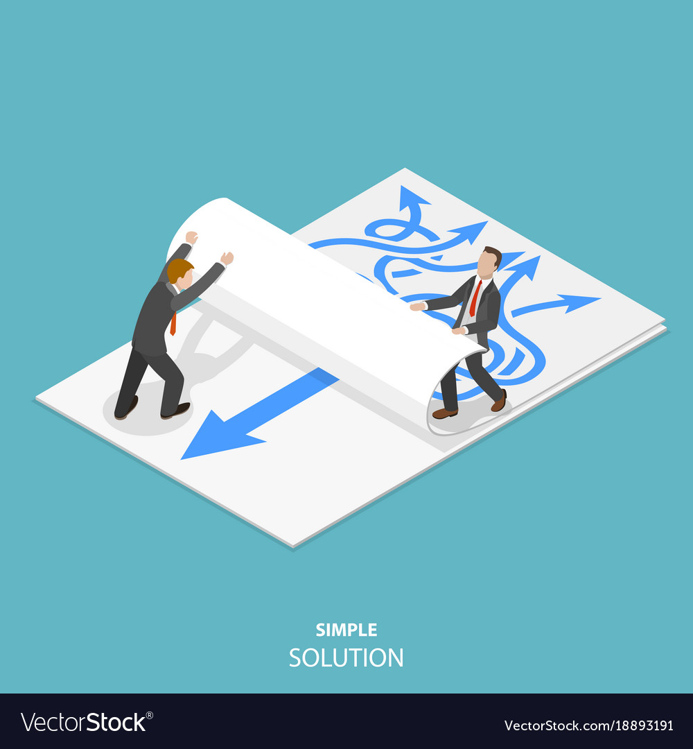 Simple solution flat isometric concept