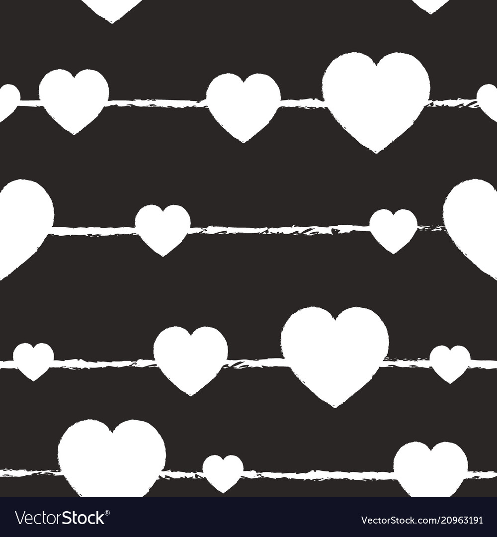 Valentines day grey and white background seamless